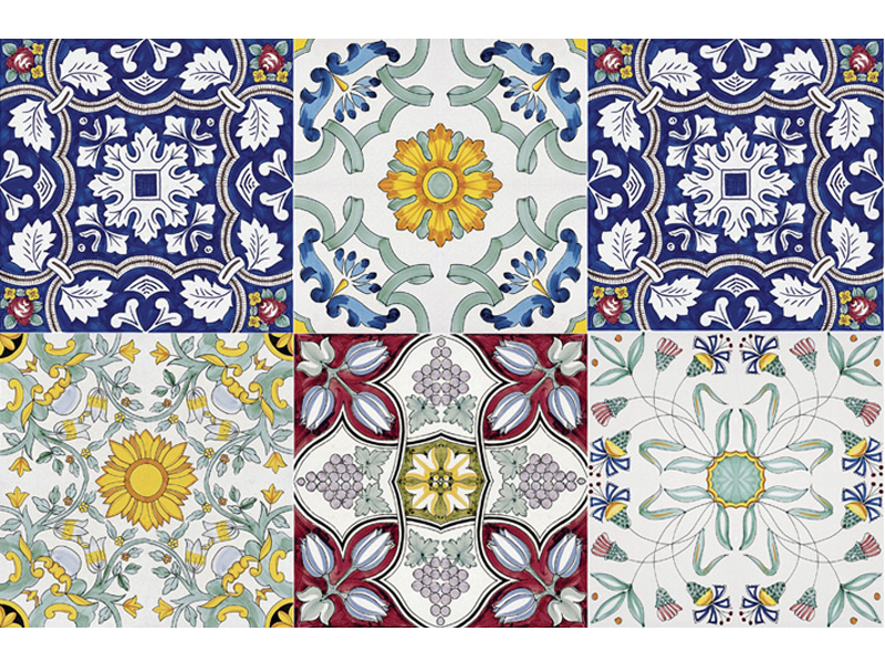 collezione i grandi classici antiche maioliche decorate a