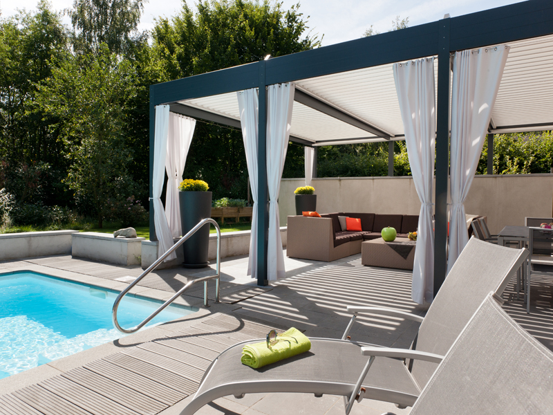 solisysteme l 39 unica originale pergola in alluminio che puoi aprire e chiudere a tuo piacimento. Black Bedroom Furniture Sets. Home Design Ideas
