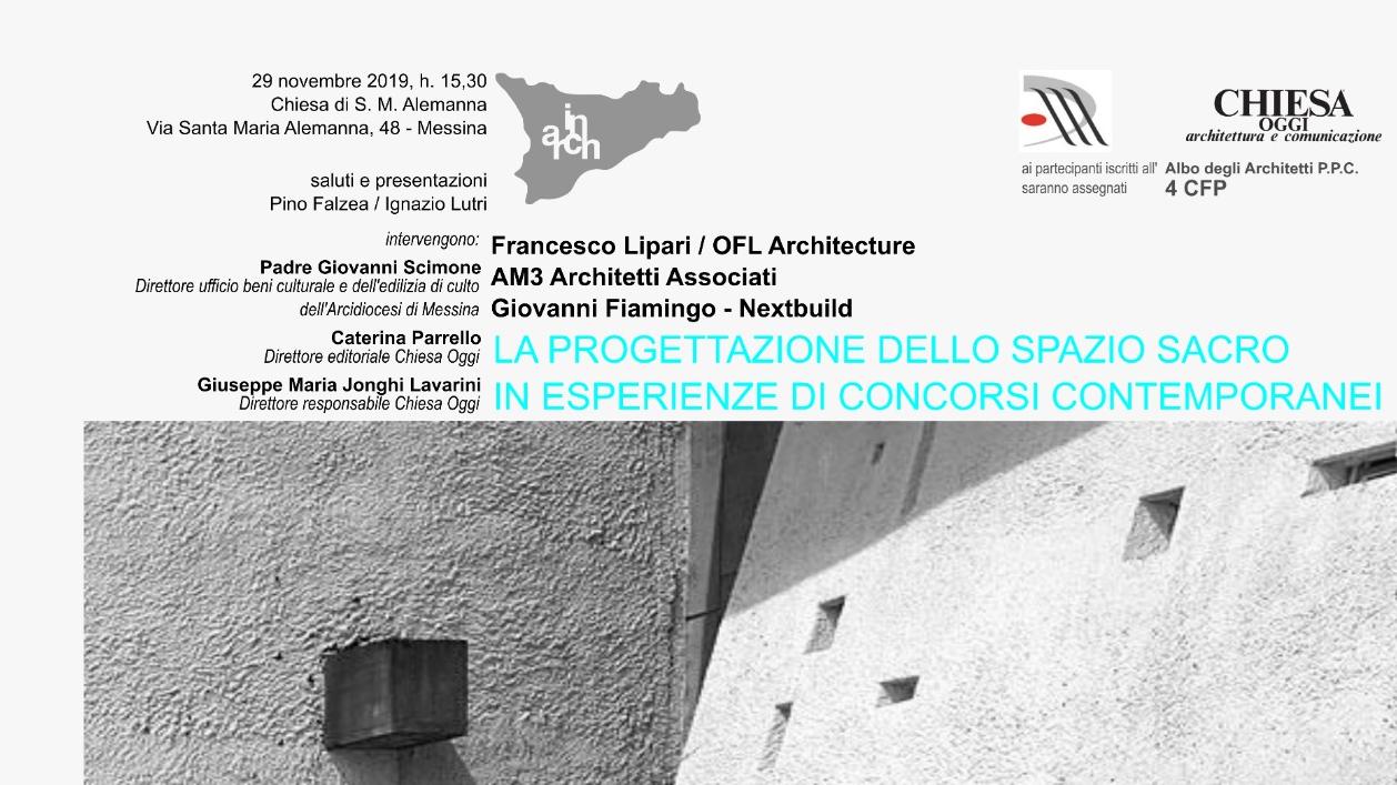 Albo Architetti Messina la progettazione dello spazio sacro nelle esperienze di